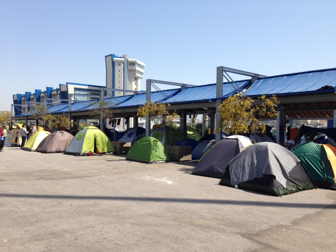 'Home' for many refugees in Piraeus